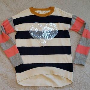 Hi-low sweater